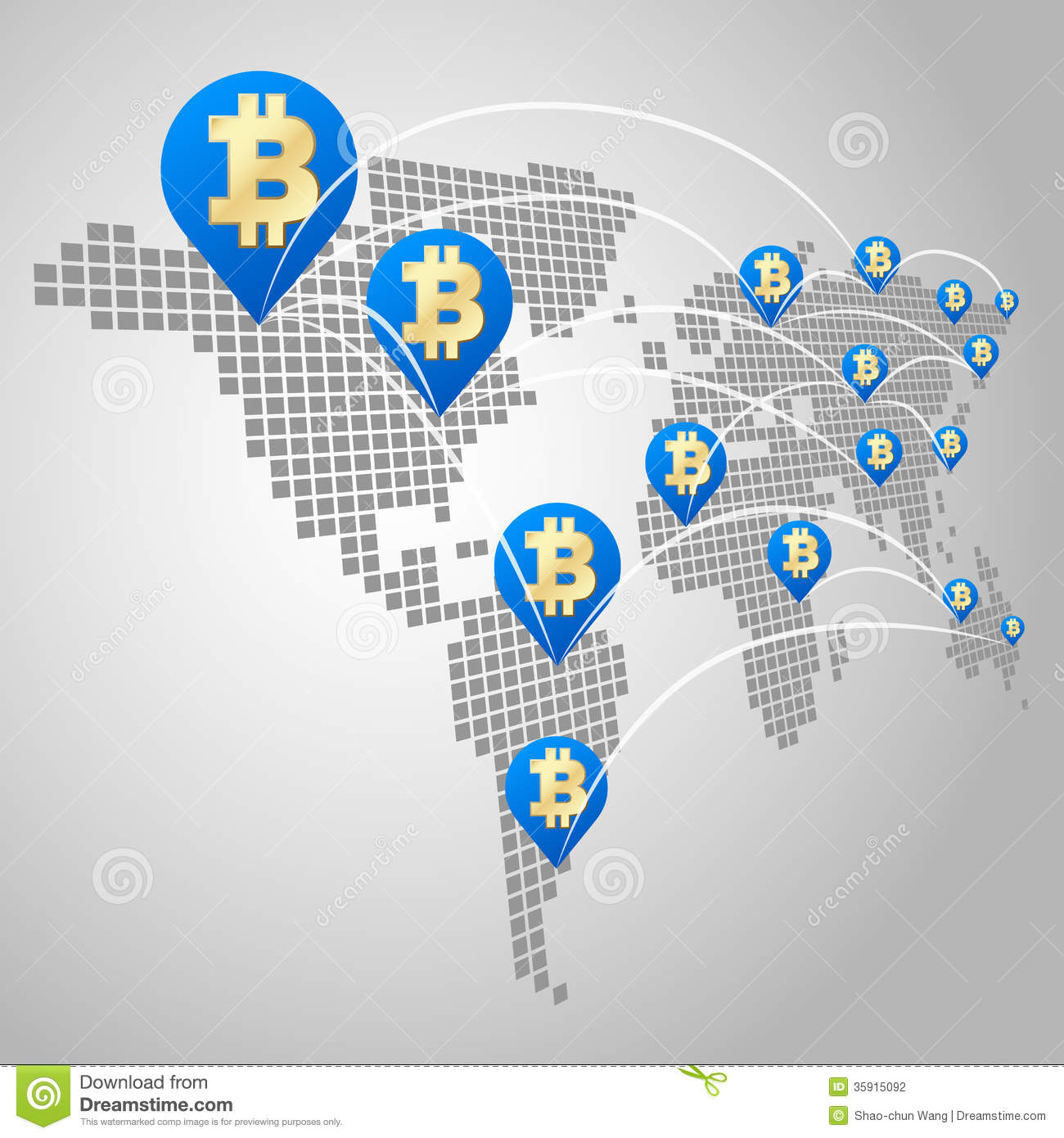 bitcoin-global-business-concept-dot-world-maps-virtual-currency-35915092